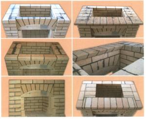 Порядок укладки кирпичей в камине