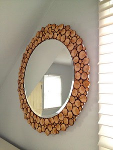 Оформление круглого зеркала