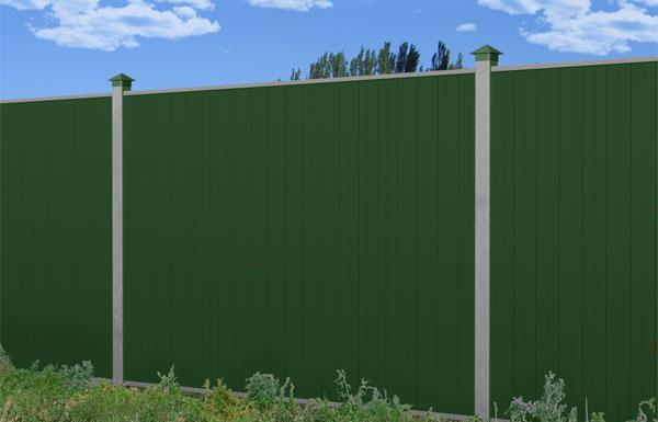 Забор из современного шумопоглощающего профнастила