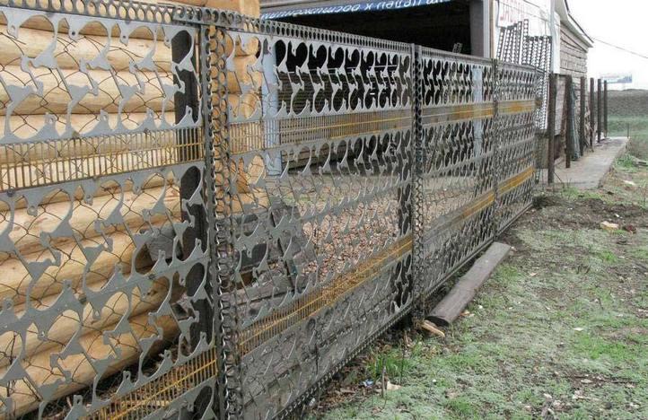 Забор своими руками из отходов штамповочного производства