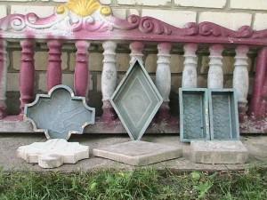 Готовые формы для тротуарной плитки