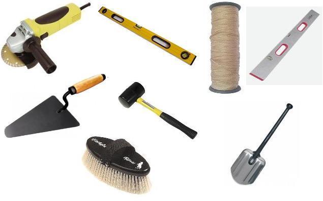 Инструменты для укладки декоративной плитки под камень