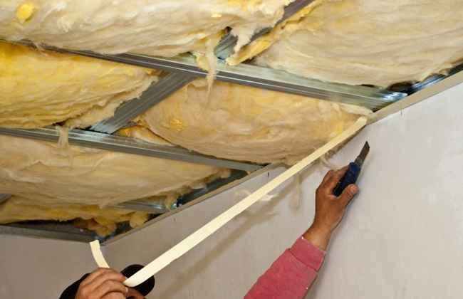 Обрешетка из профиля для утепления потолка минеральной ватой