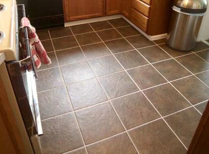 Напольная плитка на кухне