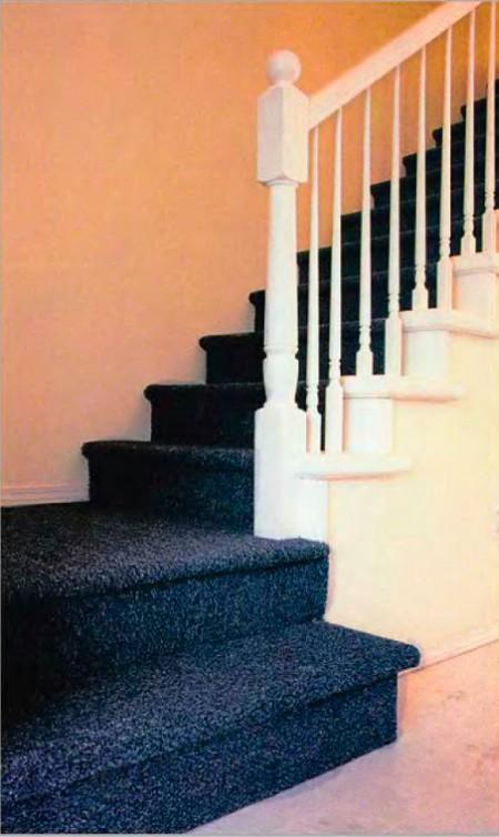 Отделка лестничных ступеней мраморной крошкой