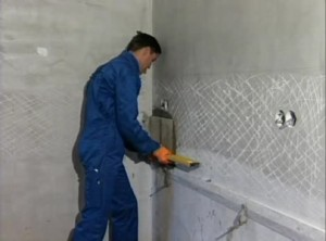 Подготовка поверхности для декоративной плитки под камень