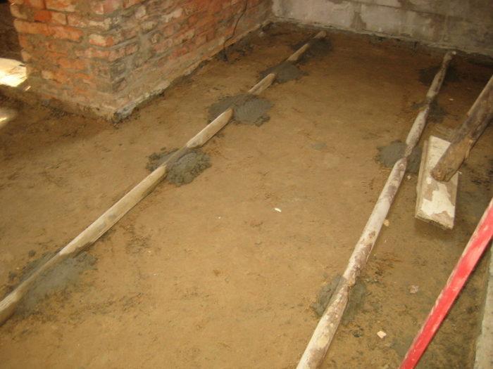 Песчаная подушка для бетонного пола
