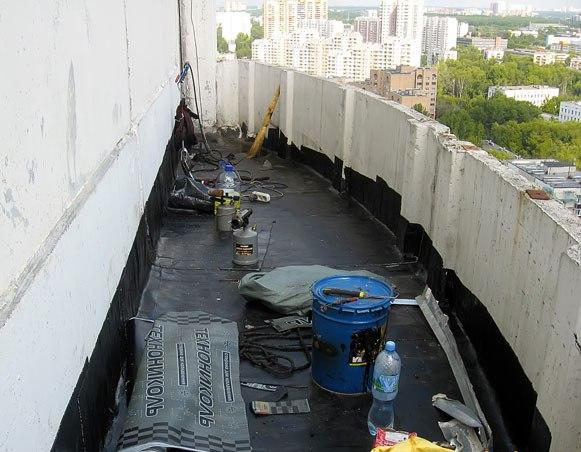 Гидроизоляция балконного пола