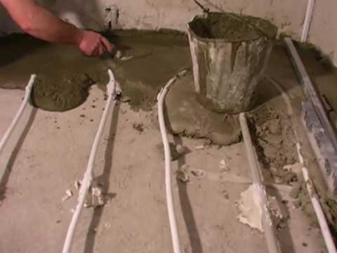 Подготовка основания под укладку труб тёплого водяного пола