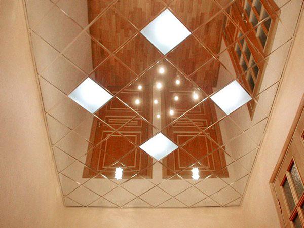 Общий вид наборного подвесного потолка ванной комнаты