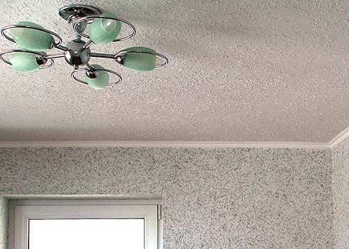 Стелохолст на потолке после завершения работ