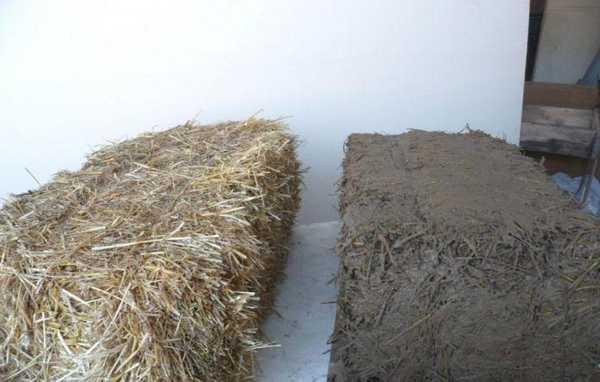 Блоки из глины с опилками и соломой для утепления потолка