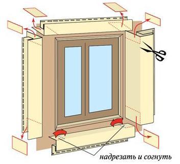 Монтаж сайдинга по периметру окна