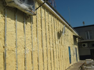 Стена, утеплённая под укладку сайдинга