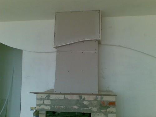 дымоход гипсокартонного камина