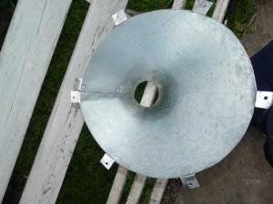 стальная воронка-заготовка для самодельного дачного унитаза