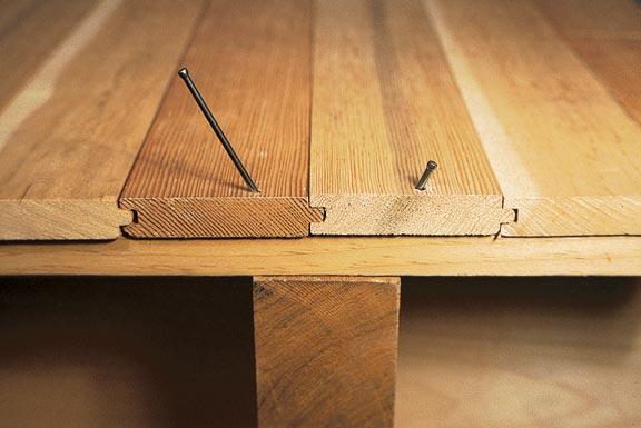 Крепление досок деревянного пола гвоздями