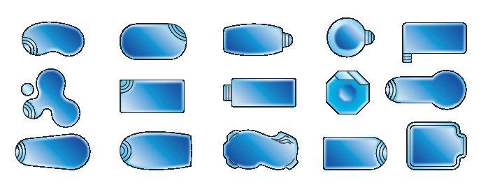 формы банных бассейнов