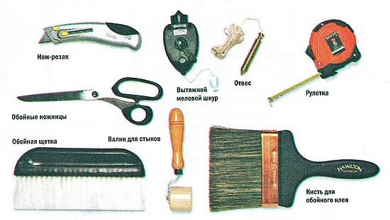 инструменты для наклеивания обоев на обои