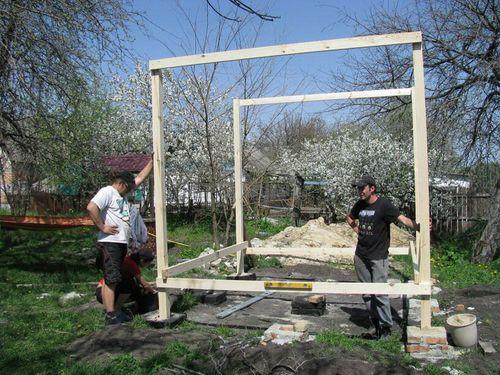 Создание каркаса для беседки (бетон или дерево)