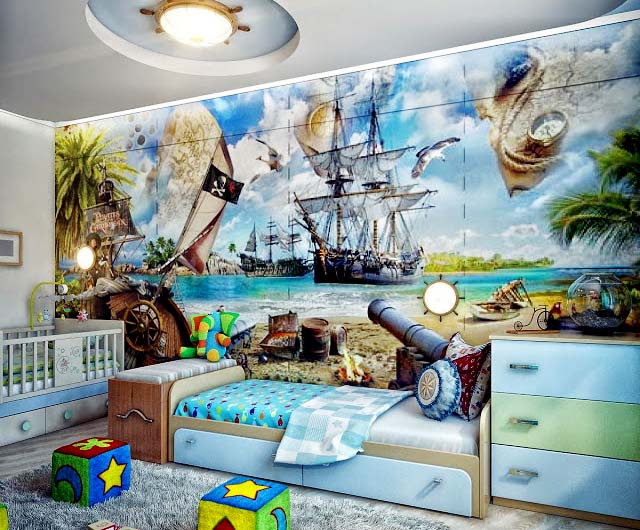 красивые обои в детской комнате мальчика