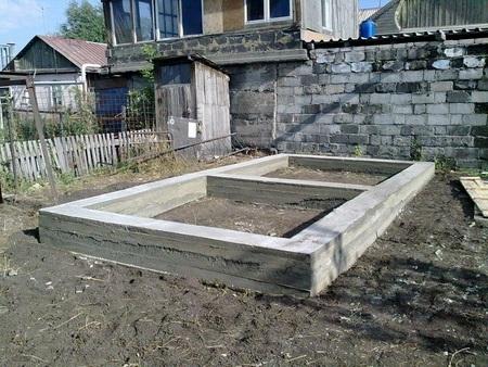 ленточный фундамент под баню из шлакоблока