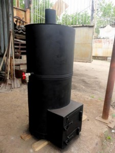 металлическая печь для бани из трубы