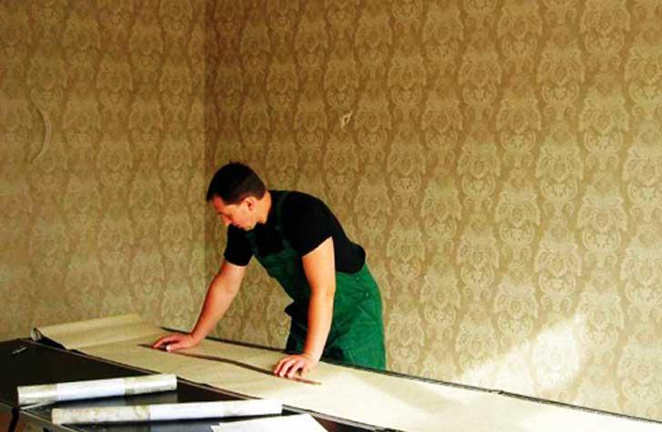 подготовка обойных полотен