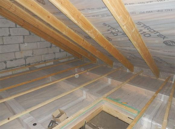 утепление потолка в каркасном доме