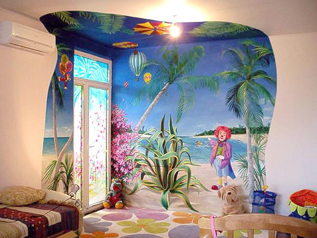 вариант обоев в детскую комнату