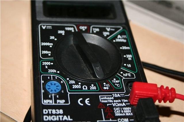 мультиметр для подключения трёхпроводной люстры