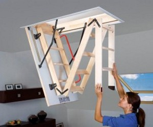 самостоятельный монтаж лестницы на чердак