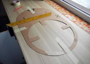 шаблон для разметки столешницы под дачный умывальник