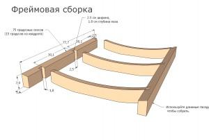 схема фреймовой сборки шезлонга